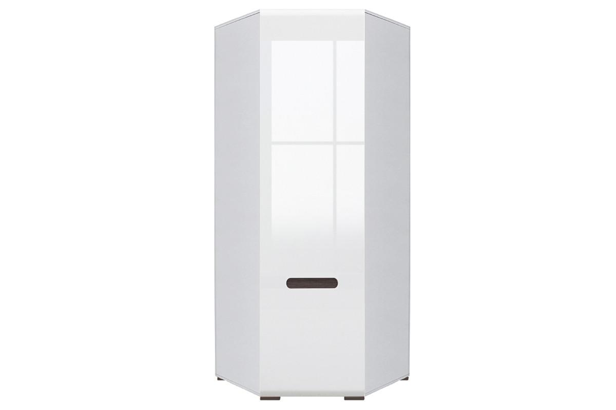 Шкаф для одежды угловой 1Д , коллекции Ацтека, Белый Блеск, БРВ Брест (Беларусь)