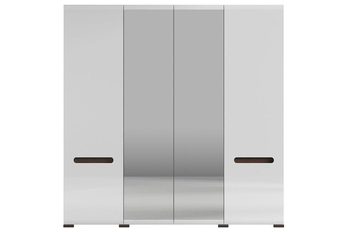 Шкаф для одежды 4Д , коллекции Ацтека, Белый Блеск, БРВ Брест (Беларусь)