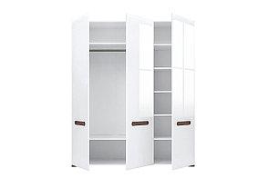 Шкаф для одежды 3Д , коллекции Ацтека, Белый Блеск, БРВ Брест (Беларусь), фото 2