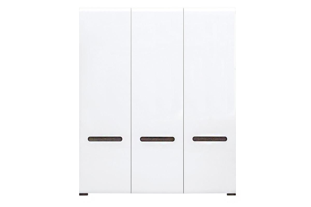 Шкаф для одежды 3Д , коллекции Ацтека, Белый Блеск, БРВ Брест (Беларусь)