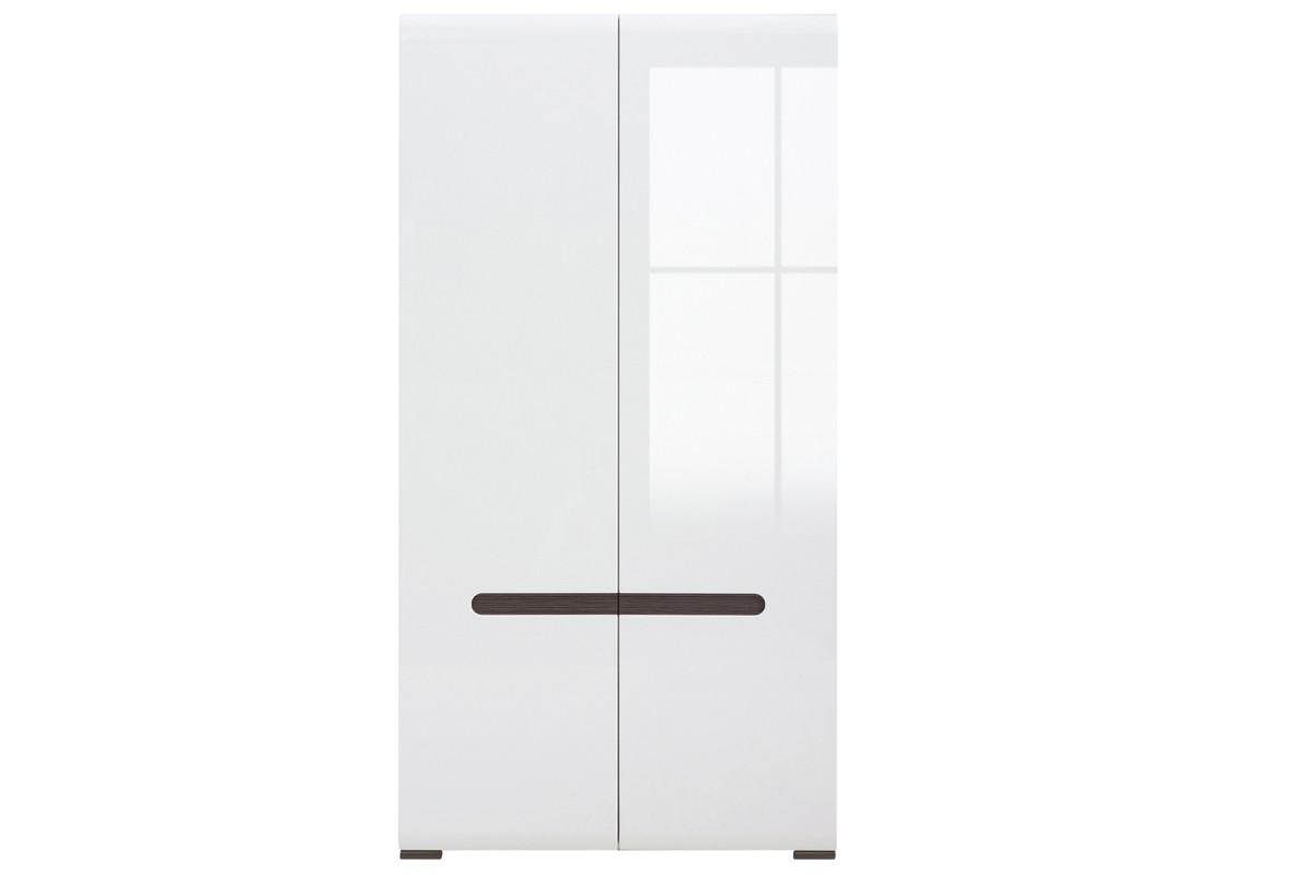 Шкаф для одежды 2Д , коллекции Ацтека, Белый Блеск, БРВ Брест (Беларусь)