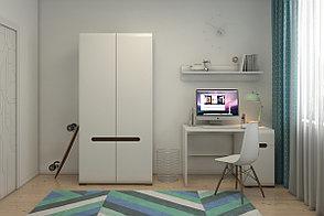 Шкаф для одежды 2Д , коллекции Ацтека, Белый Блеск, БРВ Брест (Беларусь), фото 3