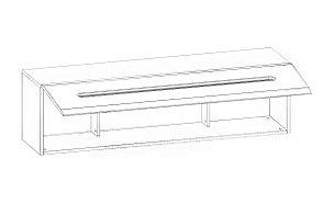 Шкаф для книг навесной 1Д , коллекции Ацтека, Белый Блеск, БРВ Брест (Беларусь), фото 2
