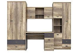 Шкаф для книг навесной 2Д  как часть комплекта Малкольм, Дуб Каньон, БРВ Брест (Беларусь)