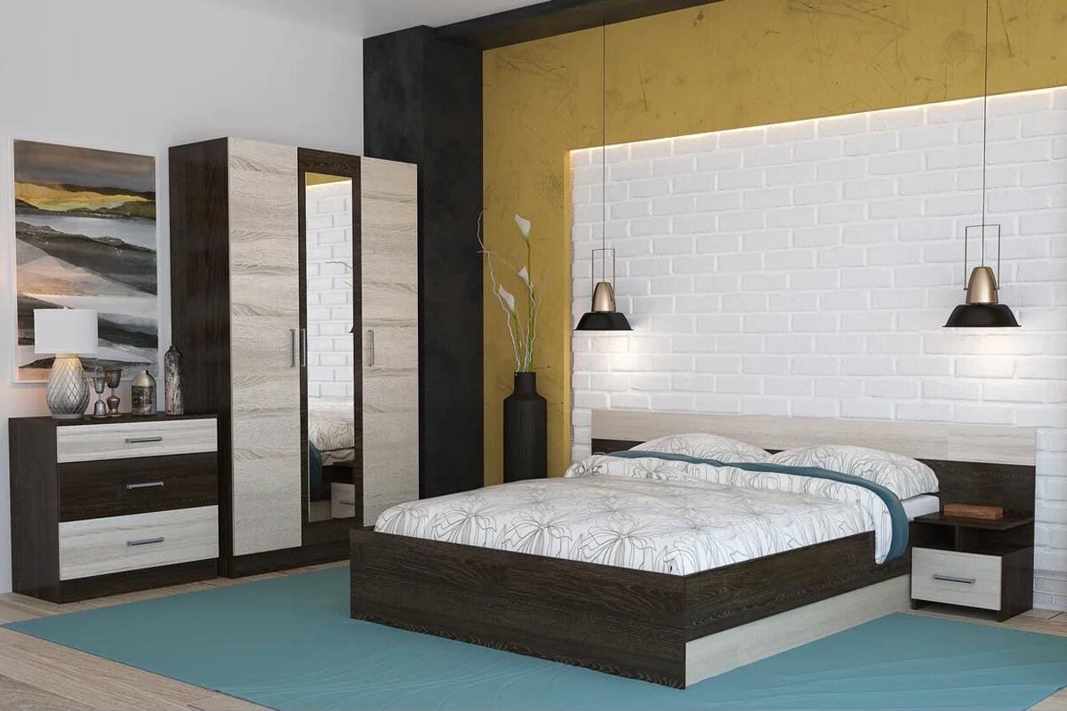 Комплект мебели для спальни Уют 1, Дуб Санома, Горизонт(Россия)