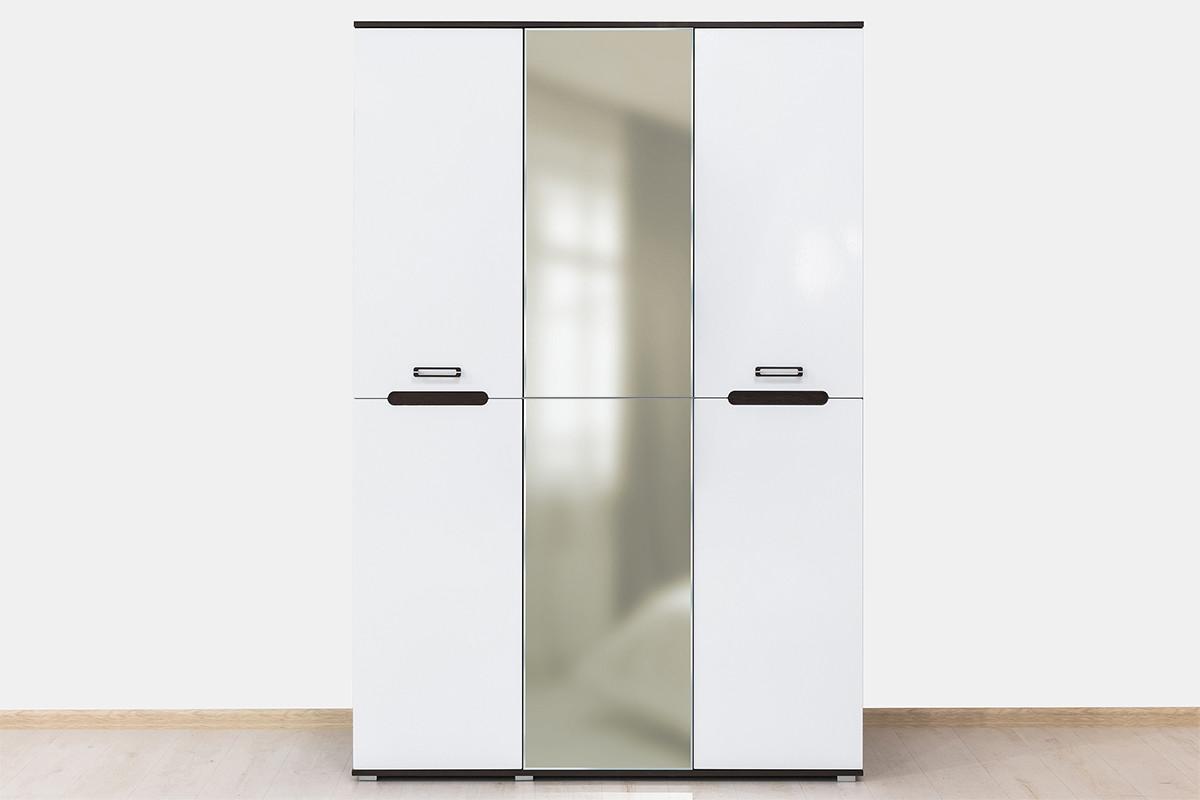 Шкаф для одежды 3Д , коллекции Вегас, Белый, Горизонт (Россия)