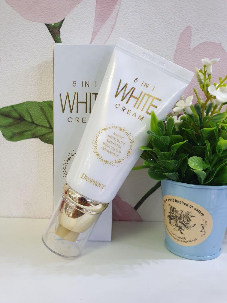 Многофункциональный отбеливающий крем Deoproce 5 in 1 White Cream 50 g.