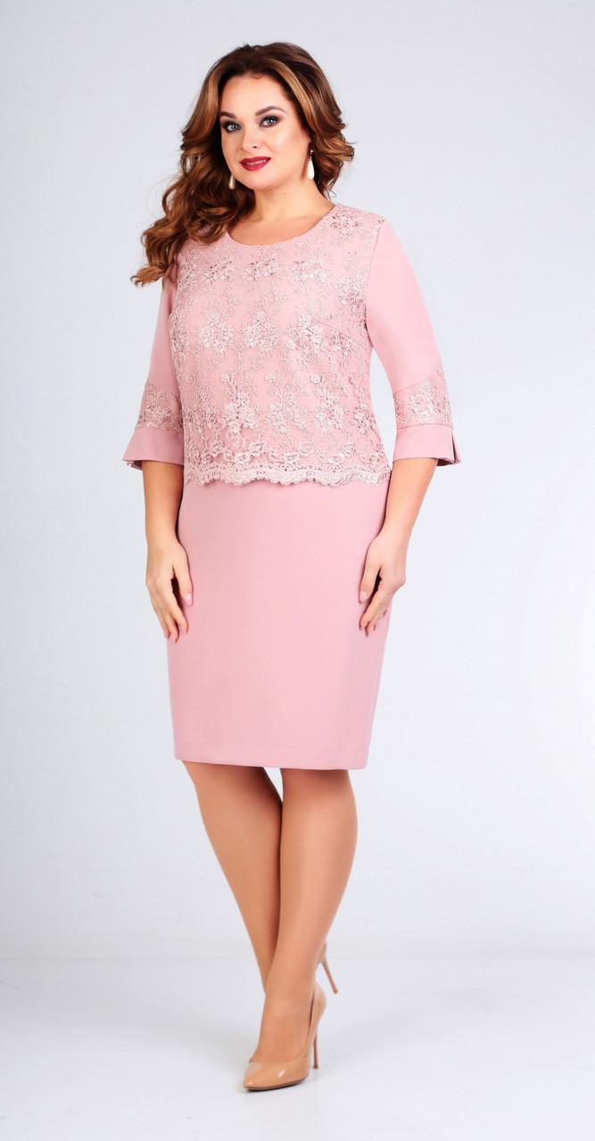 Платье Асолия-2442.1, светло-розовый, 54