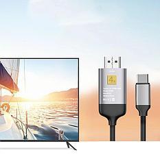 Кабель USB Type-C - HDMI (папа) 2.0, 4K - 60Hz, фото 3