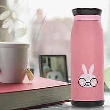 Термос бутылочка 0,5 л Кролик, фото 2
