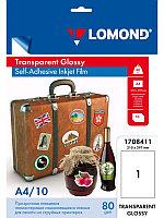 Пленка Самоклеящаяся Lomond 10л.A4 прозрачная 100 мк для струйных принтеров 1708411