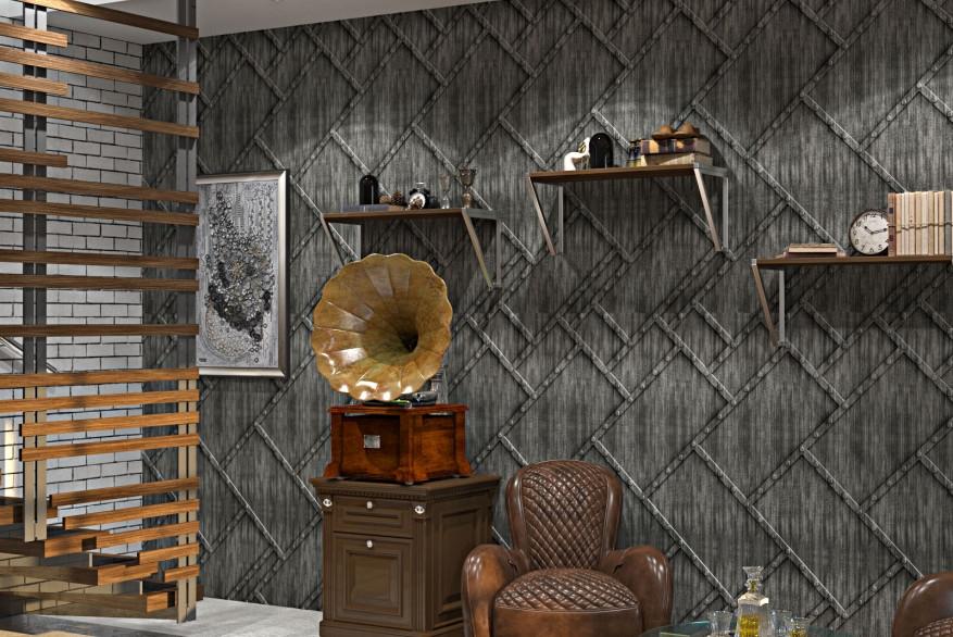 Декоративные панели 3D VERGE Заклёпки, Седой Дуб, 3000х1000 мм Казахстан - фото 2