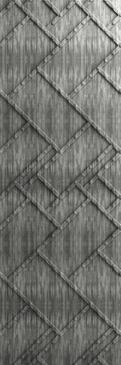 Декоративные панели 3D VERGE Заклёпки, Седой Дуб, 3000х1000 мм Казахстан - фото 3