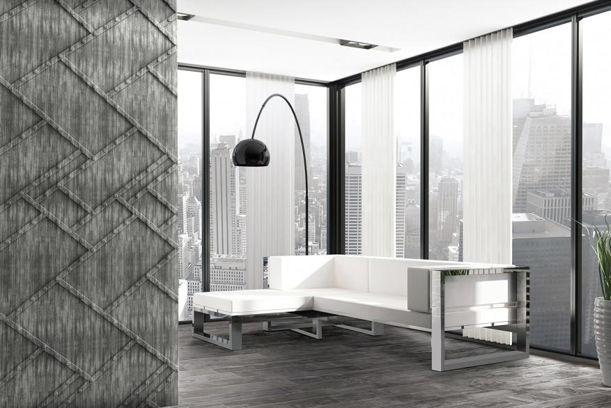 Декоративные панели 3D VERGE Заклёпки, Седой Дуб, 3000х1000 мм Казахстан - фото 4