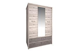 Шкаф для одежды 3Д  Джаз, Каштан найбори Светлый, Анрэкс (Беларусь)