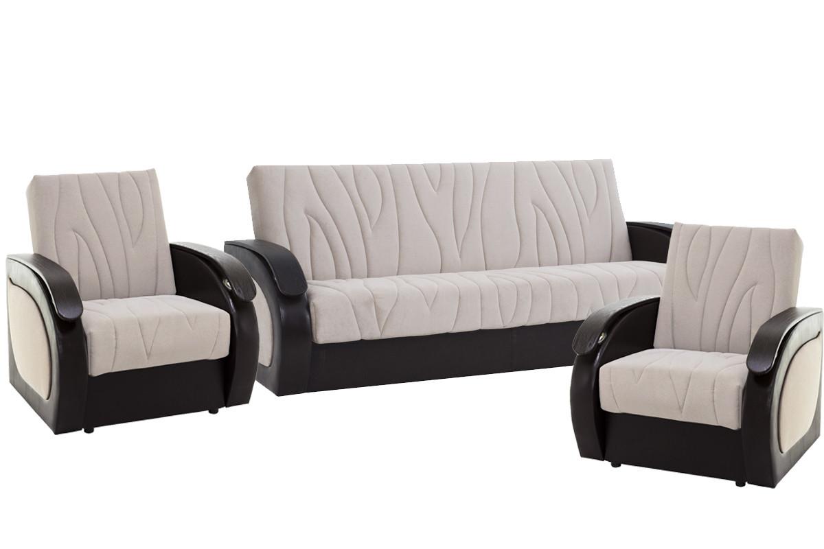 Комплект мягкой мебели Сиеста 2, Бежевый, АСМ(Россия)