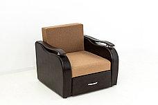 Кресло-кровать раскладной Аквамарин 7, ОК06/КупонАфрикаЛьвы/MOBI11, АСМ (Россия), фото 3