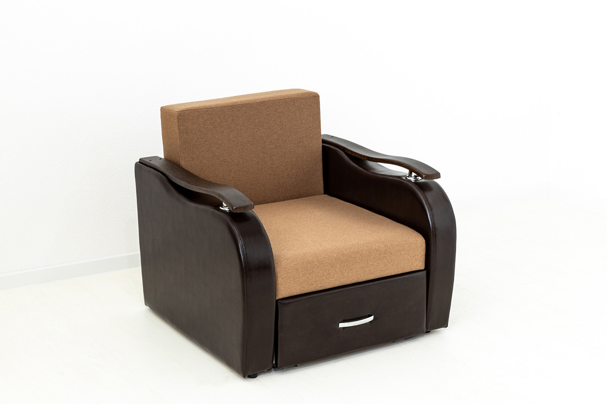 Кресло-кровать раскладной Аквамарин 7, ОК06/КупонАфрикаЛьвы/MOBI11, АСМ (Россия) - фото 3