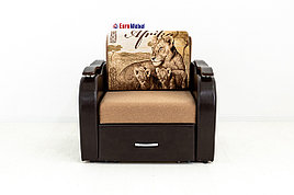 Кресло-кровать раскладной Аквамарин 7, ОК06/КупонАфрикаЛьвы/MOBI11, АСМ (Россия)