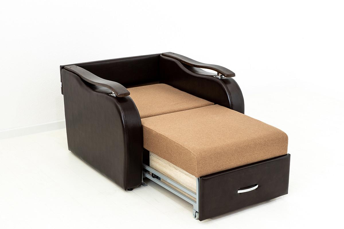 Кресло-кровать раскладной Аквамарин 7, ОК06/КупонАфрикаЛьвы/MOBI11, АСМ (Россия) - фото 4