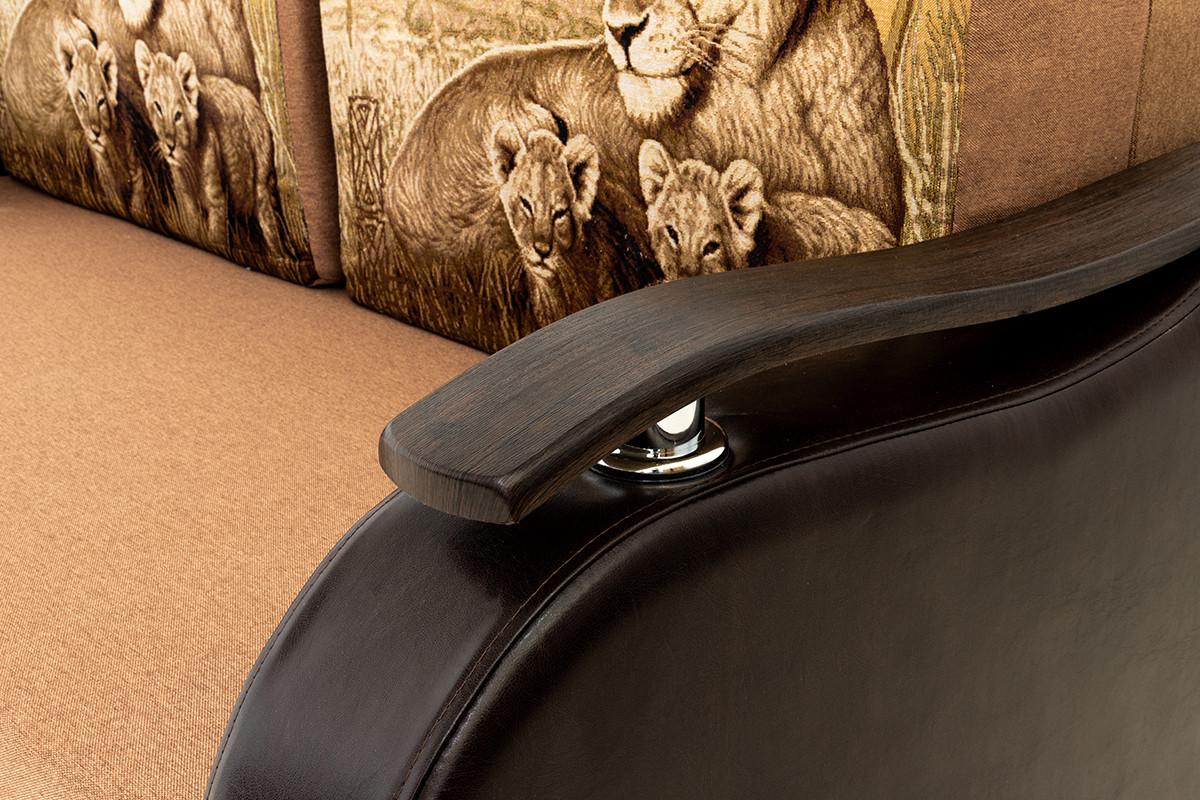 Кресло-кровать раскладной Аквамарин 7, ОК06/КупонАфрикаЛьвы/MOBI11, АСМ (Россия) - фото 7