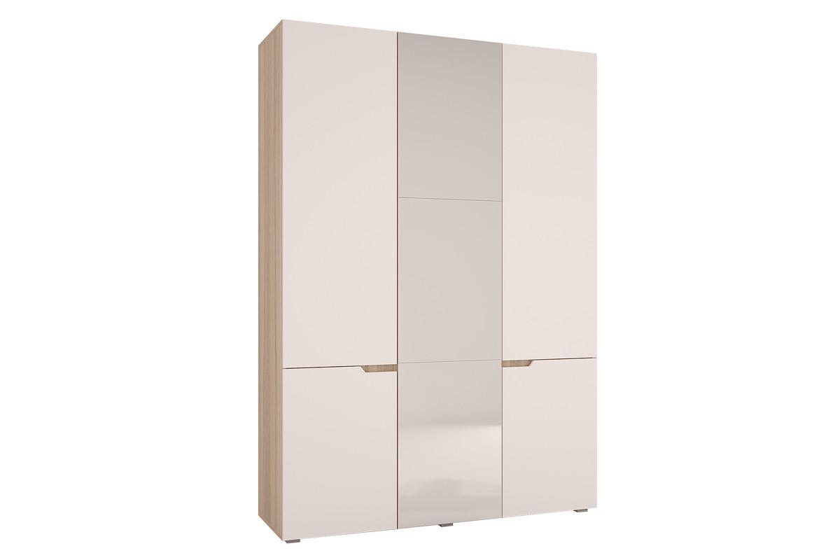 Шкаф для одежды 3Д Анталия, Белый софт, Горизонт (Россия)