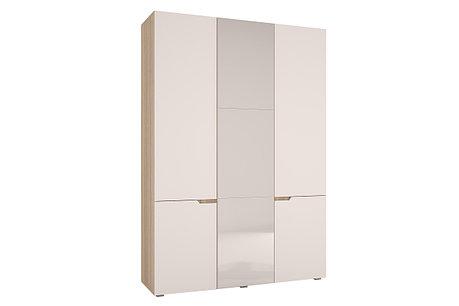 Шкаф для одежды 3Д Анталия, Белый софт, Горизонт (Россия), фото 2