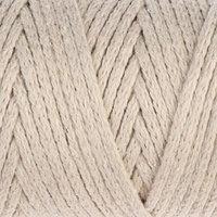 Шнур для вязания без сердечника 100 хлопок, ширина 3мм 100м/200гр (2110 кремовый)