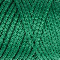 Шнур для вязания без сердечника 100 полиэфир, ширина 3мм 100м/210гр, (122 зеленый)