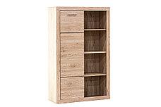 Шкаф стеллаж 1Д  как часть комплекта Оскар, Дуб Санремо, Анрэкс (Беларусь), фото 3