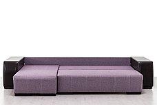 Диван угловой раскладной Дамаск NEW, Magic(ПТК)Purple/Экотекс 213, АСМ (Россия), фото 2