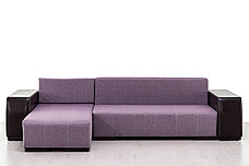 Диван угловой раскладной Дамаск NEW, Magic(ПТК)Purple/Экотекс 213, АСМ (Россия), фото 3