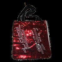 Сумка с пайетками 35х37 см Красная