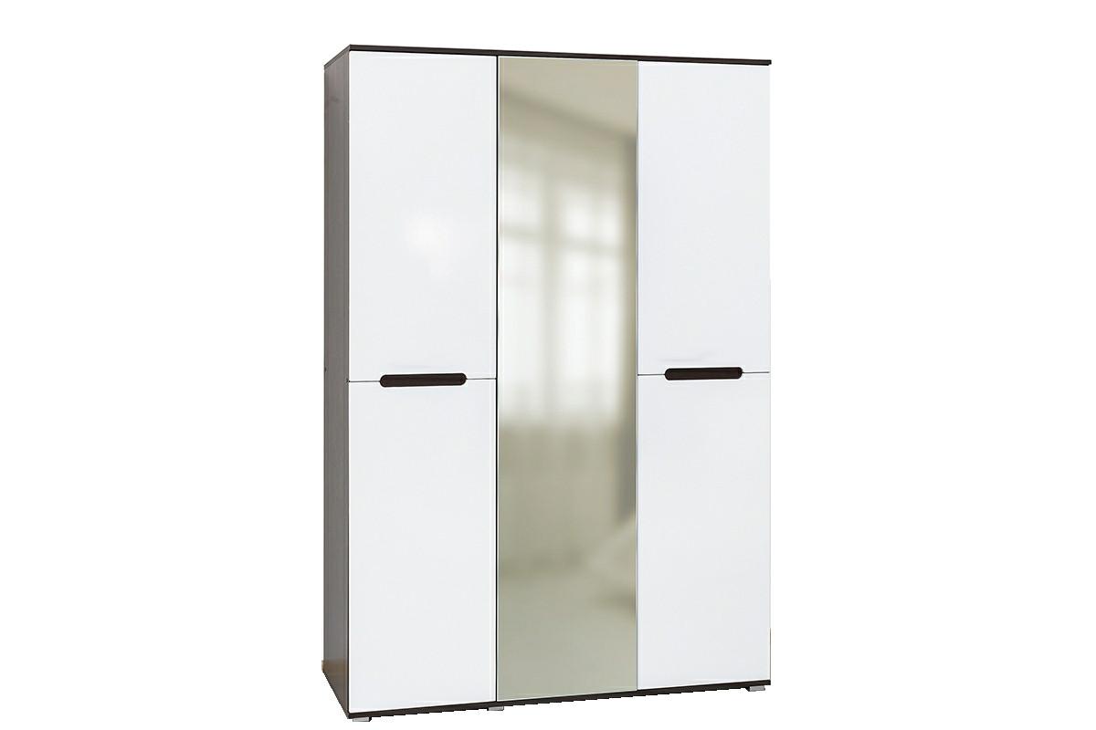 Шкаф для одежды 3Д , коллекции Вегас, Белый Белый, Горизонт (Россия)