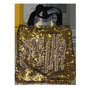 Рекламная сумка с пайетками 35х37 см Золотая