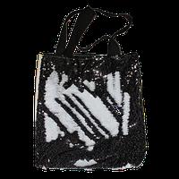 Рекламная сумка с пайетками 35х37 см Черная