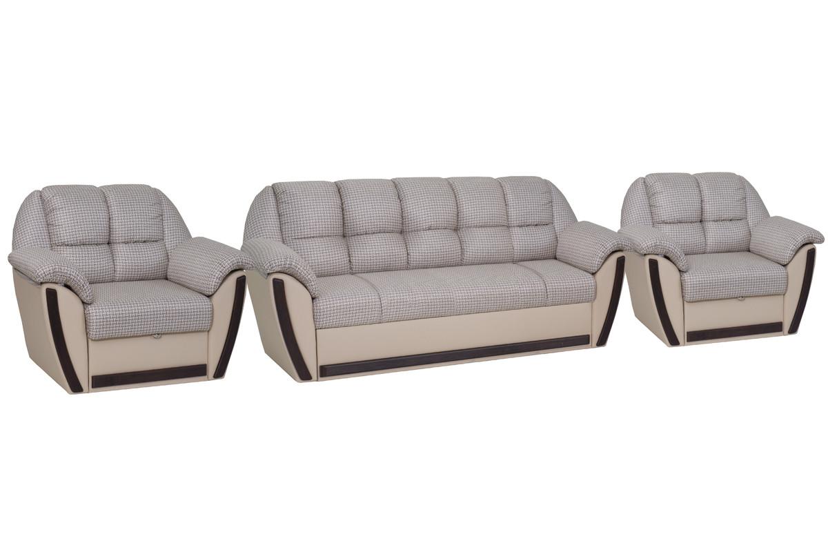 Комплект мягкой мебели Блистер, Бежевый, АСМ Элегант(Россия)