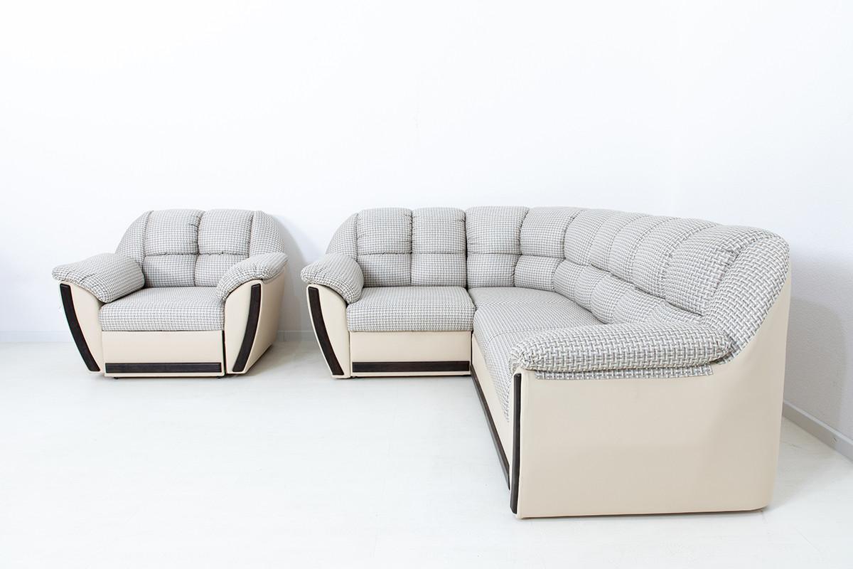 Комплект мягкой мебели Элегант, Бежевый/Коричневый, АСМ(Россия)