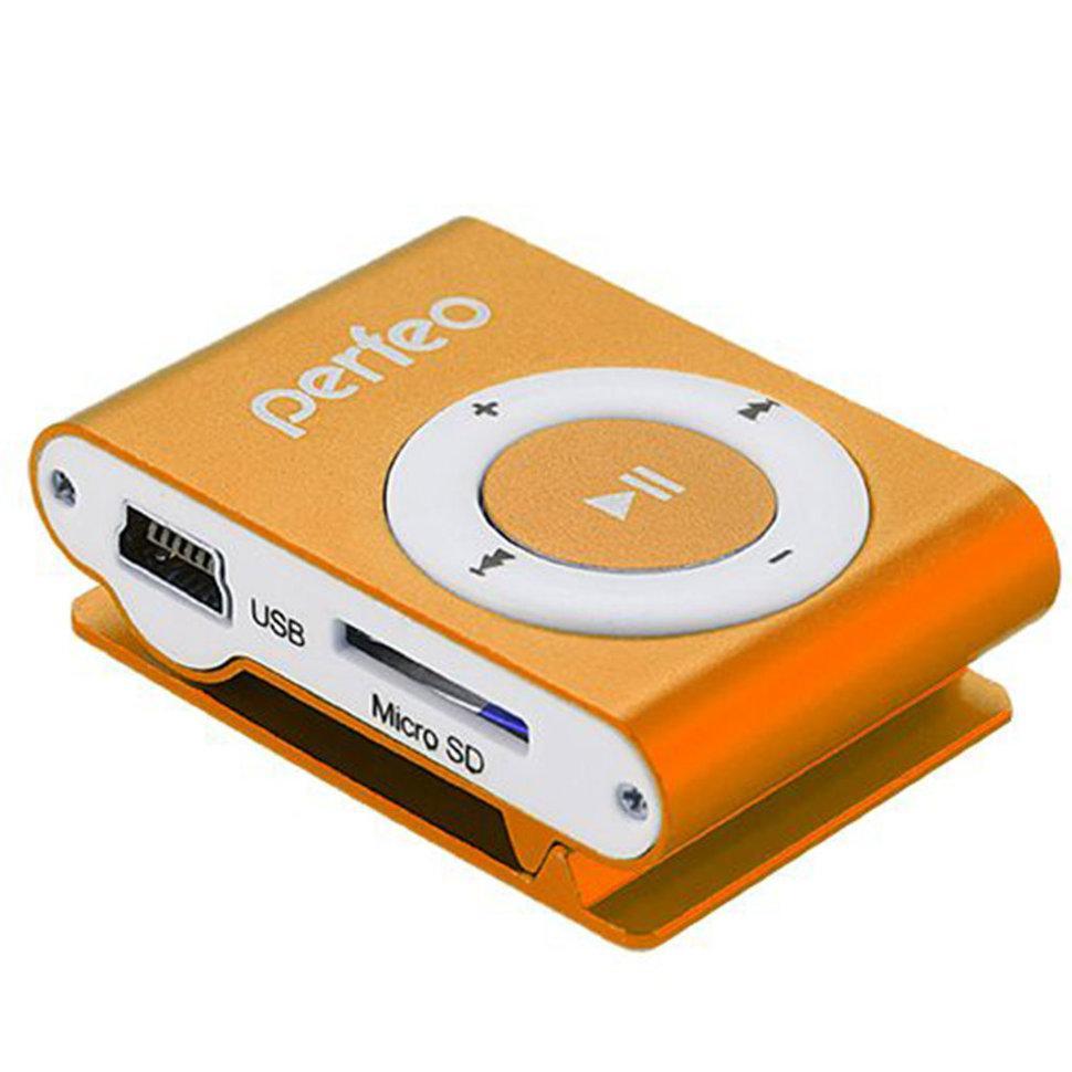 Perfeo  цифровой аудио плеер Music Clip Titanium 8 Gb, оранжевый (VI-M001-8GB Orange)
