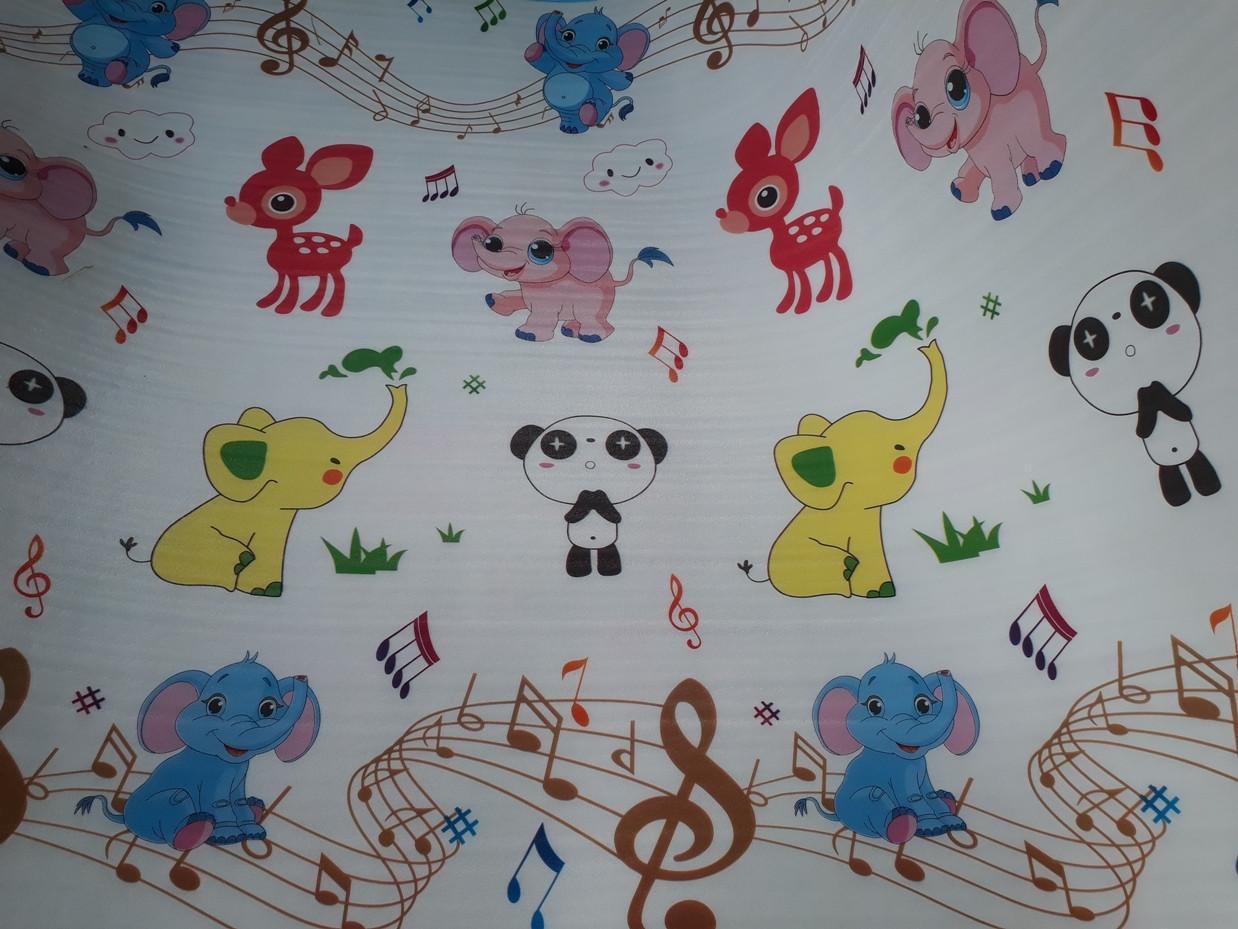 Красивый термоковрик для детей с алфавитом и зверятами. Размер 1,8 м.*1,5 м.*0,5 см.
