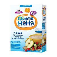 """Каша """"Фруто Няня"""" пшеничная с яблоком и земляникой, молочная с 6 мес. 200 г"""