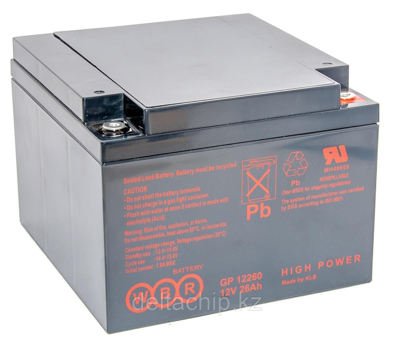 WBR GP12260 26A F2 (166*175*125mm) AGM аккумулятор.