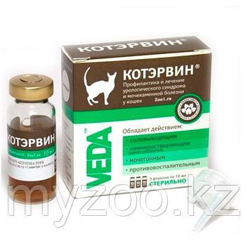 Лекарственное средство для кошек КотЭрвин 1 флакон