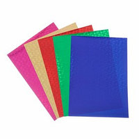 Набор цветного голографического картона А4 'Цветы', 5 шт, микс, 21х29,7 см