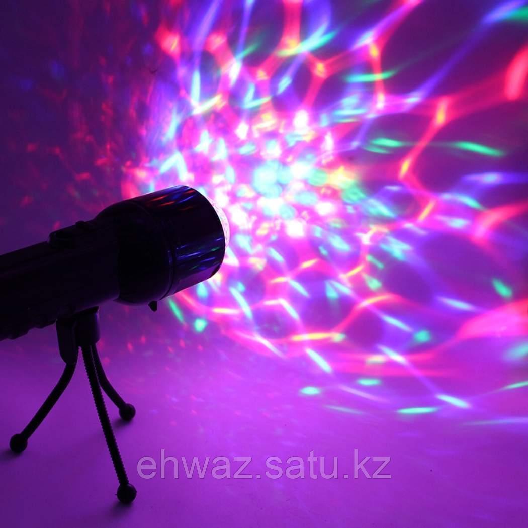 Светодиодный цветной LED проектор на штативе 2-в-1