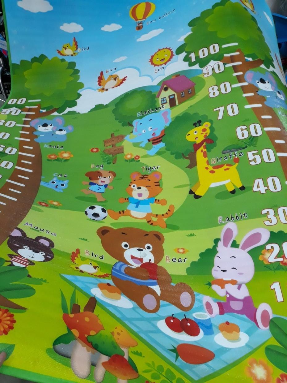 Термоковрик для детей с алфавитом и ростомером. Размер 1,8 м.*1,5 м.*0,5 см. Kaspi RED. Рассрочка.