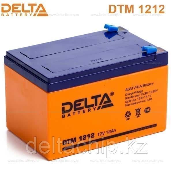 Delta DTM 1212 12A F2 AGM аккумулятор.