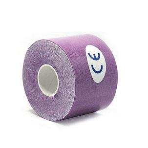 Кинезио тейп Jincheng Sports (цвет фиолетовый) - пластырь для поддержки мышц 5 см х 5 м, фото 2