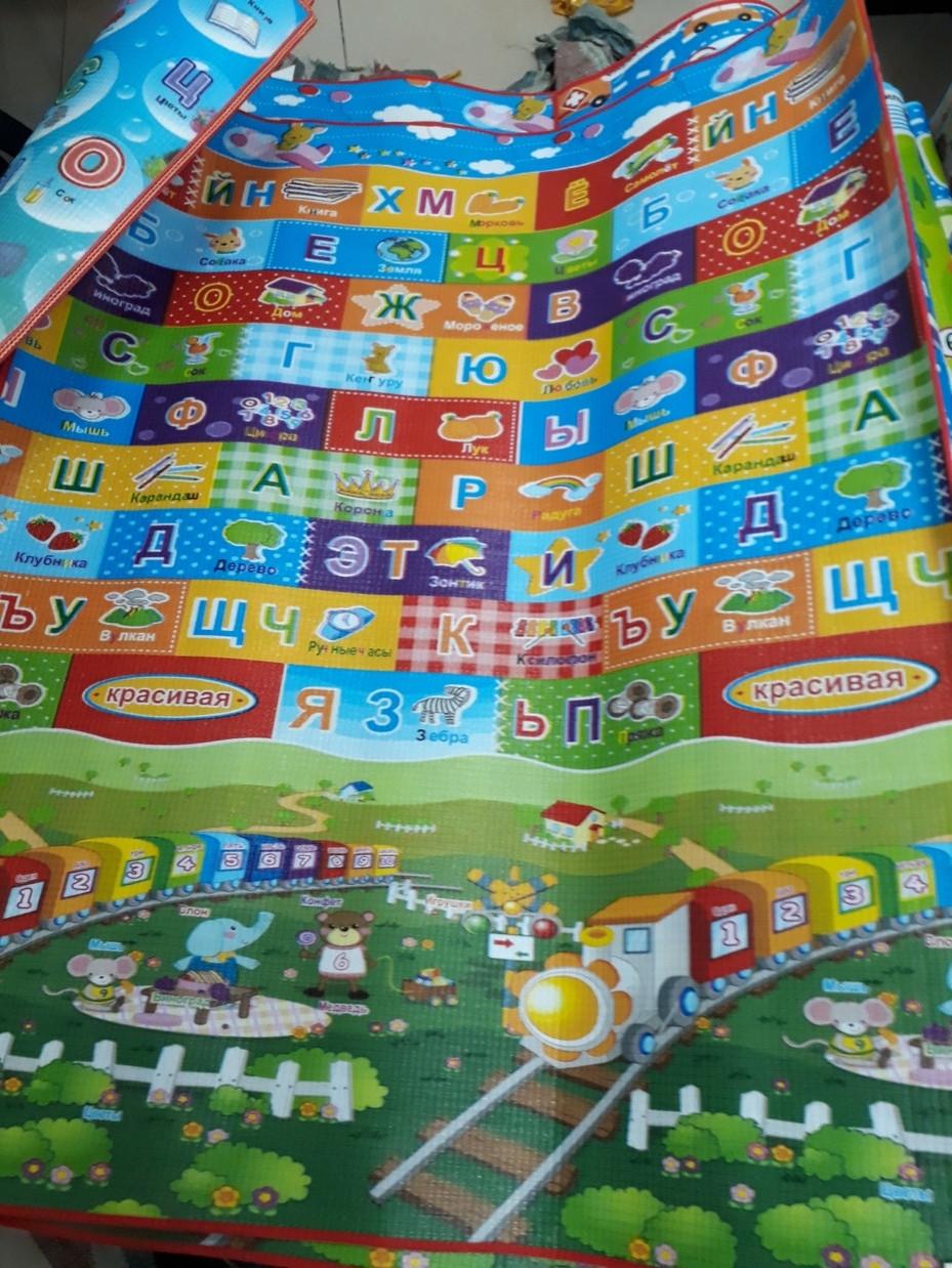Термоковрик для детей - алфавит и дорога. Размер 1,8 м.*2 м.*0,5 см. Рассрочка. Kaspi RED.