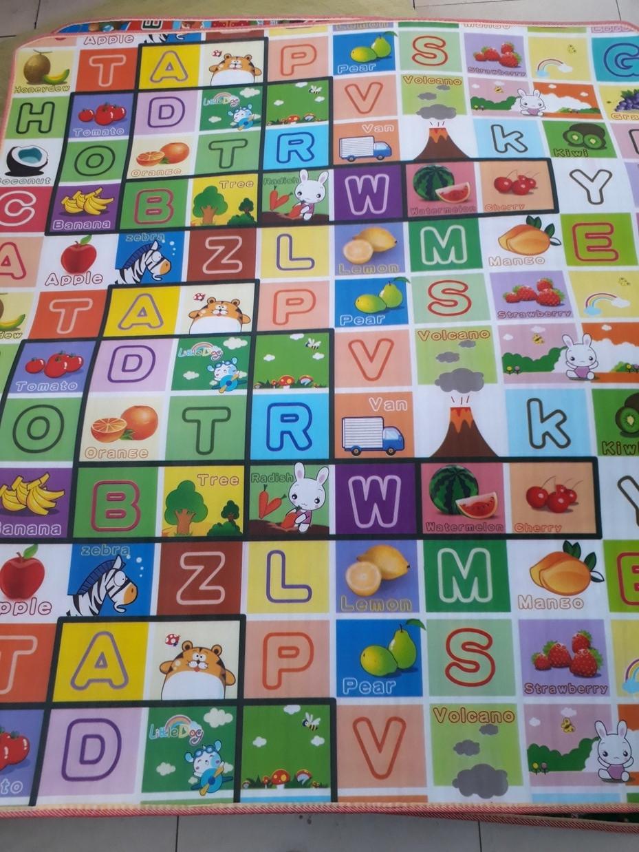 Термоковрик для детей - алфавит на английском языке и дорога. Размер 1,8 м.*2 м.*0,5 см